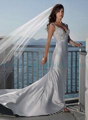 Beaded Sexy Beach Wedding Dress