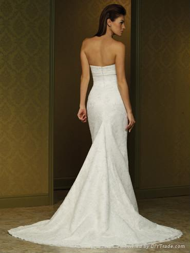 Nice Beaded Aline Lace Wedding Dress with Cap Sleeves 2