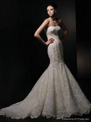 Strapless Mermaid Style Lace Wedding Dress
