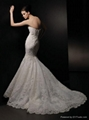 Strapless Mermaid Style Lace Wedding Dress 2