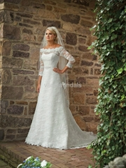 Gorgeous Hot Selling Long Sleeve Lace Wedding Dress