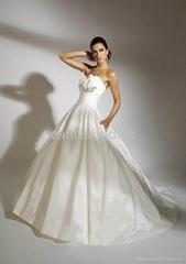 Stunning Strapless A-line Taffeta Wedding Dress
