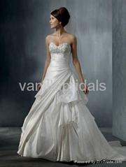 Ruffled Sweetheart Strapless A-line Wedding Dress