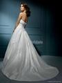 Nice Beaded Strapless A-line Wedding Dress 2