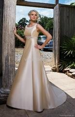 Simple but Elegant Spaghetti Strap A-line Wedding Dress