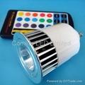 GU10 5W RGB LED spotlight