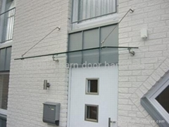 stainless steel door glass canopy