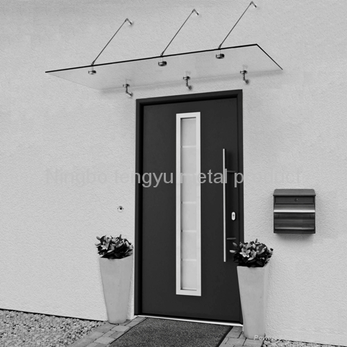 Canopies Canopy And Front Door Glass And: Stainless Steel Door Glass Canopy