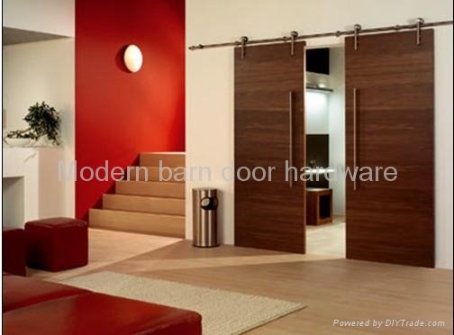 Modern Top Hung Stainless Steel Wood Sliding Door Fitting Set Modern & Wood Sliding Doors - womenofpower.info