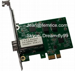 1000Mbps Computer gigabit fiber optical Network card with single SFP Port,PCIex1