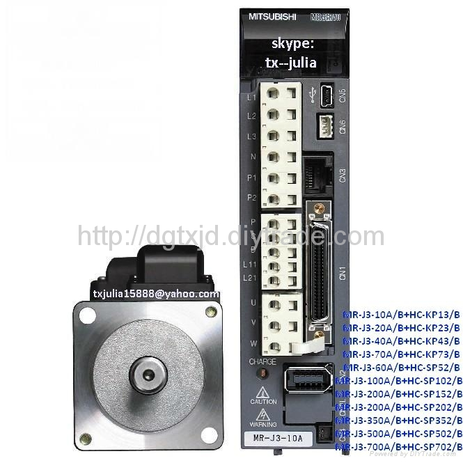 Mitsubishi  MR & HC series Servo drive MR-J3-10A+HC-KP13                      1