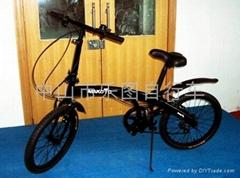 铝合金海豚折叠自行车