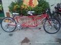 Leisure tandem bicycle (export version)