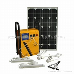 100W solar power system for home use or outdoor lighting
