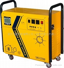 300w portable solar system with LCD display for home use