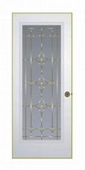 steel flush door with full view glass