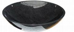 黑色花崗岩水盆.