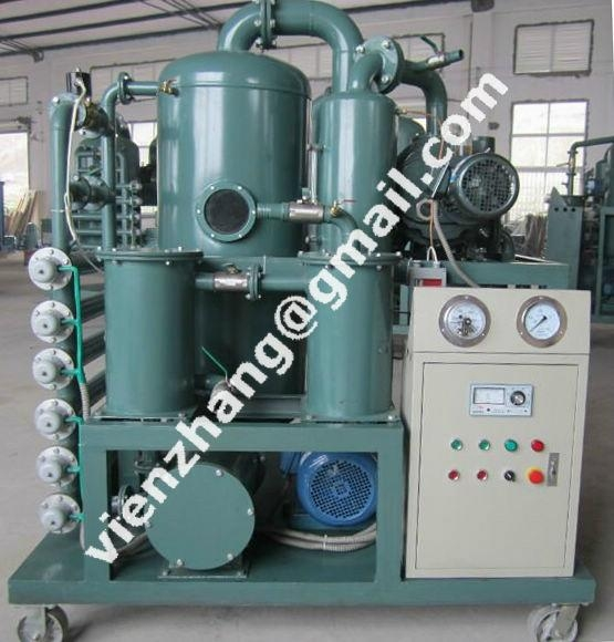 Lubricating oil filtration and vacuum dehydration