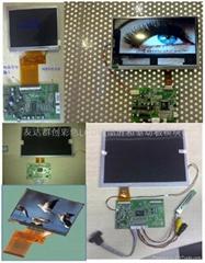 3.5寸液晶显示屏和AV或VGA输入驱动板模块