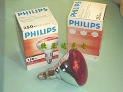 供应飞利浦BR125,IR250W红外线灯泡