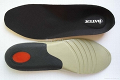 Pu insole with firm TPU Heel Cup.