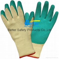 High Quality 10 Guage T/C Yarn Knitted Shell With Latex Coated Work Gloves