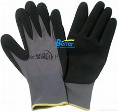 13 Guage Nylon Nitrile sandy finished work gloves BGNC303S