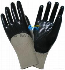 Hight Quality Nitrile Foam Finished Work Gloves