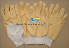 Cotton Interlock/Jersey Lining With Latex Dipped Work Gloves