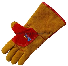 Cow Split Leather Welding Gloves-BGCW205