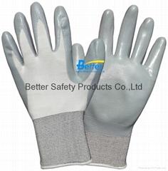 Light Weight Nitrile Dipped Work Gloves (BGNC301)