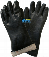 Black Sandy Finished PVC Dipped Work Gloves