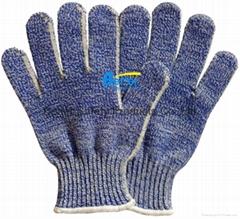 Aramid Fiber Seamless Knitted Anti Cut Work Gloves