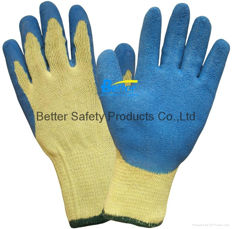 High Quality 10 Guage T/C Yarn Knitted Shell With Latex Coated Work Gloves 4