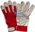 High Quality Cow Grain Leather Excellent Comflex Driver Style Work Gloves 3
