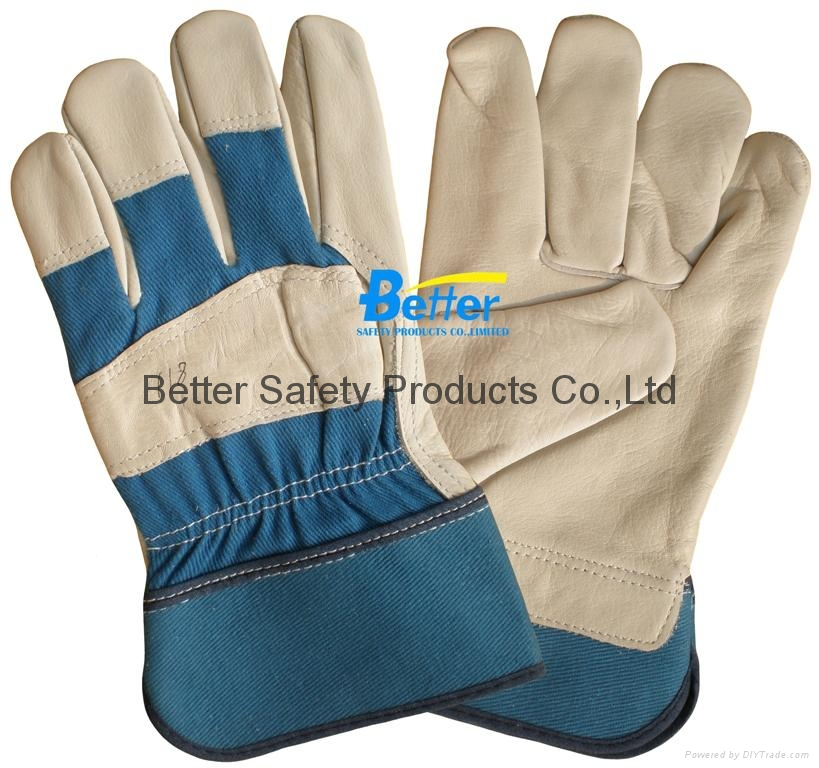 High Quality Cow Grain Leather Excellent Comflex Driver Style Work Gloves 4