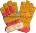Cow Split Leather Driver Stryle Excellent Comflex Winter/Warmer Work Gloves 2
