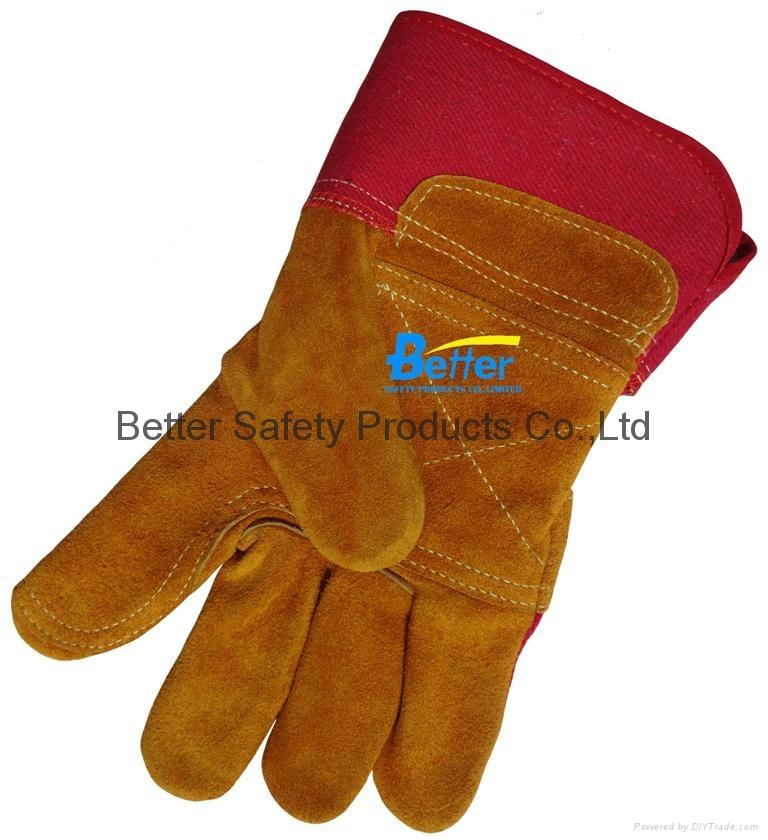 Cow Split Leather Driver Stryle Excellent Comflex Winter/Warmer Work Gloves 3
