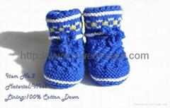 2012 new design hot sale hand crochet knit cotton baby shoes (Item No.2)