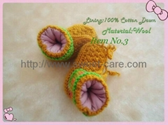 Handknitted Cotton Baby Shoes (Item No.3)