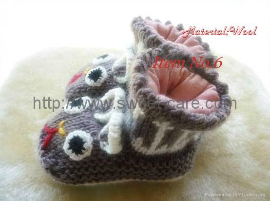 Knitting Shoes Suppliers : Fashion hand knit baby shoes cotton lining material