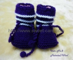 Fashion hand knit baby cotton baby shoes with comfortable design (Item No.8)