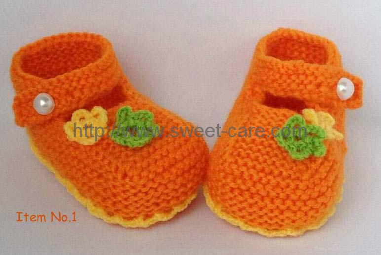 Baby Knitting Shoes Products : Handmade knit baby booties hand crochet boots