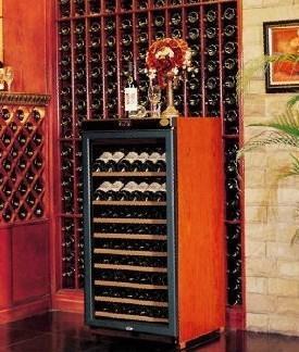 供應美晶實木紅酒儲存櫃 1