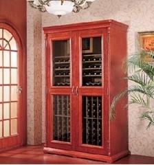 供應美晶別墅級豪華實木紅酒儲存展示櫃