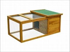 rabbit hutch / Single Wooden Pet Houses  DFR-015. Dimension:120*71*50cm