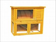 rabbit hutch / wooden pet house DFR-029. Dimension:100*50*92cm