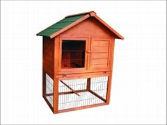 rabbit hutch / wooden pet house DFR-036. Dimension:96*78*120cm