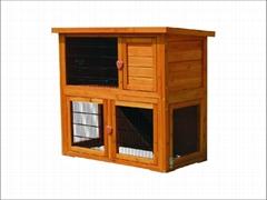 rabbit hutch / rabbit house DFR-046. Dimension:97.5*50*88cm Run:90*90*48cm