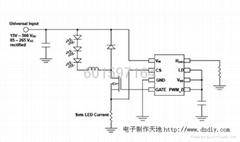 批发供应LED日光灯驱动电源-采用SMD802方案